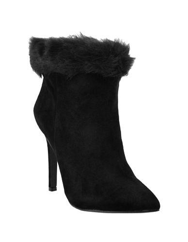 Jessica Simpson Carine2 Suede Booties-BLACK-6