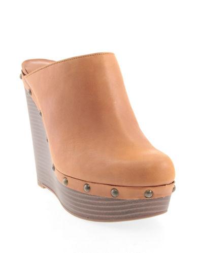 Jessica Simpson Gailen Leather Wedge Sandals-BEIGE-6.5