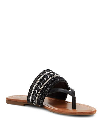 Jessica Simpson Ronette Embellished Sandals-BLACK-5.5