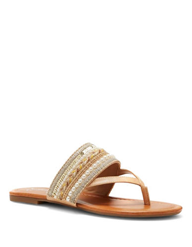 Jessica Simpson Ronette Embellished Sandals-NUDE-7