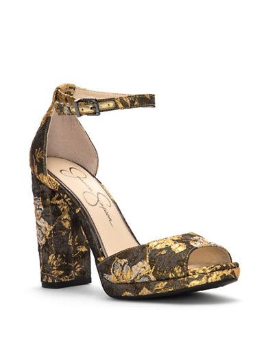 Jessica Simpson Jenee Platform Sandals-GOLD-11