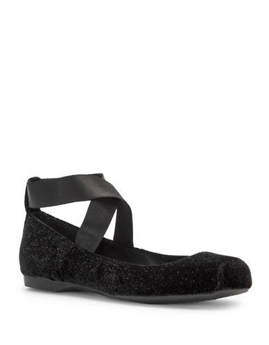 Jessica Simpson Mandalaye Ballet Flats-BLACK-5.5