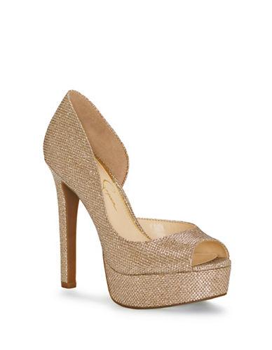 Jessica Simpson Martella Platform Sandals-GOLD-6.5