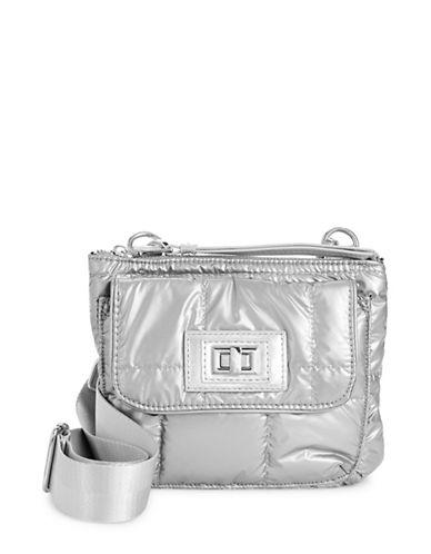 Steve Madden Bonnie Flap Crossbody Bag-SILVER-One Size
