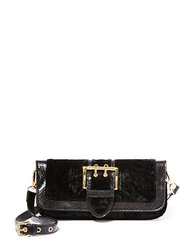 Steve Madden Ivy Velvet Convertible Clutch-BLACK-One Size