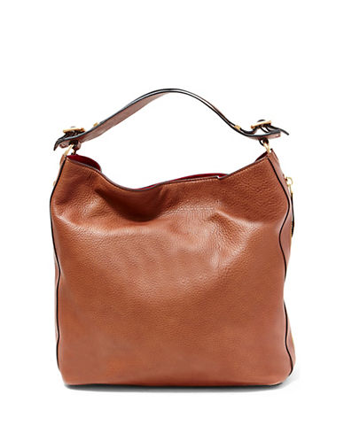 B Brian Atwood Colette Leather Bag-COGNAC/RED-One Size