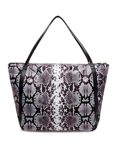 B Brian Atwood Gemma Tote Bag-BLACK/WHITE-One Size