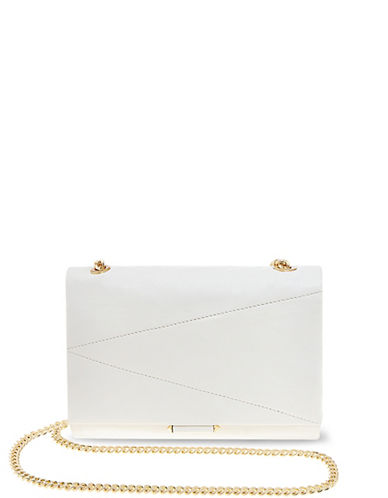 B Brian Atwood Lexy Leather Crossbody-WHITE-One Size