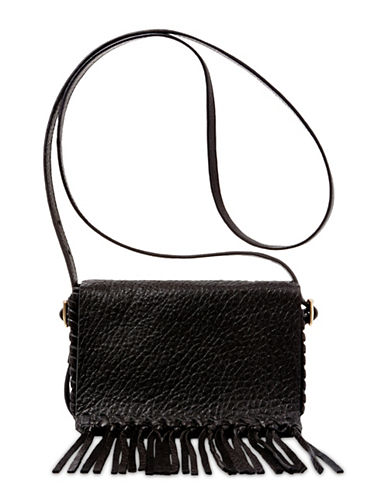 B Brian Atwood Colby Leather Crossbody-BLACK-One Size