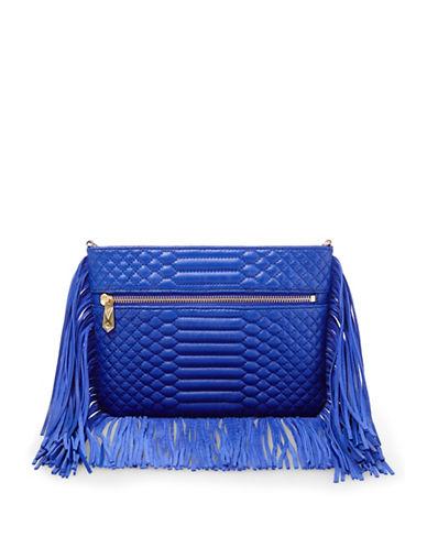 B Brian Atwood Landon Quilt Fringe Crossbody Bag-LAPIS-One Size