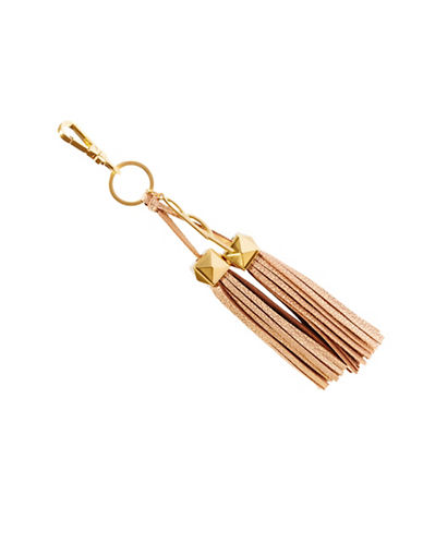 B Brian Atwood Paige Leather Tassel Charm-METALLIC-One Size