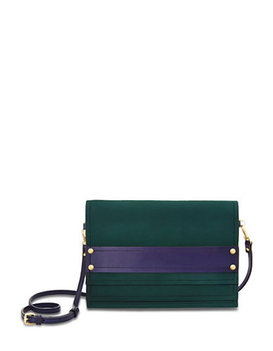 B Brian Atwood Lilah Three-Tiered Clutch-BLUE-One Size