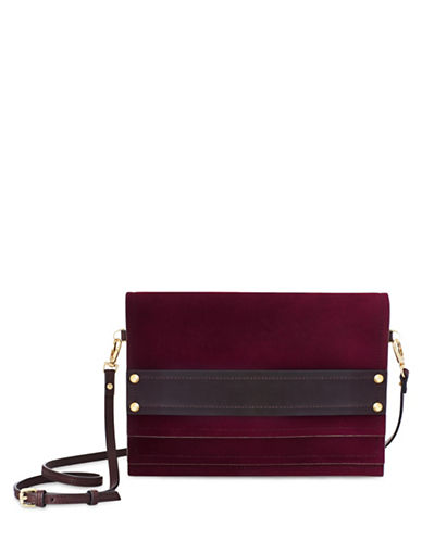 B Brian Atwood Lilah Three-Tiered Clutch-RED-One Size