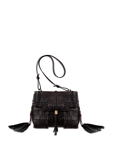 B Brian Atwood Cate Fringed Satchel-BLACK-One Size