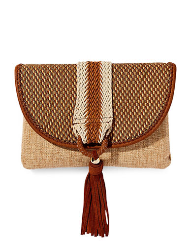 Steve Madden Jemery Clutch-NATURAL-One Size