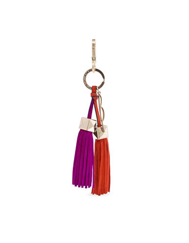 B Brian Atwood Paige Leather Tassel Charm-PINK-One Size