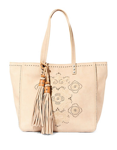 Steve Madden JRAVEN Embroidered Tote-WHITE-One Size