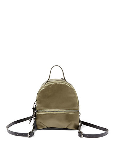 Steve Madden Bsly Satin Mini Backpack-OLIVE-One Size