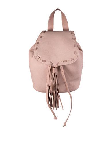 Steve Madden Bjustice Tassel Backpack-PINK-One Size