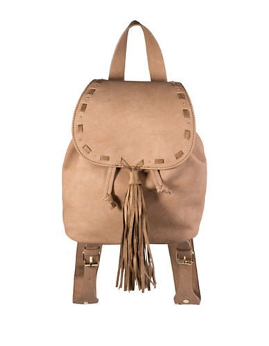 Steve Madden Bjustice Tassel Backpack-BROWN-One Size
