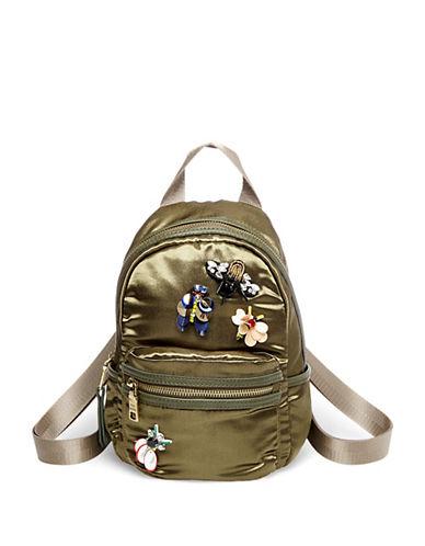 Steve Madden Brbrook Satin Applique Mini Backpack-GREEN-One Size
