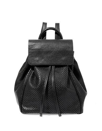 Steve Madden Bjayden Perforated Backpack-BLACK-One Size