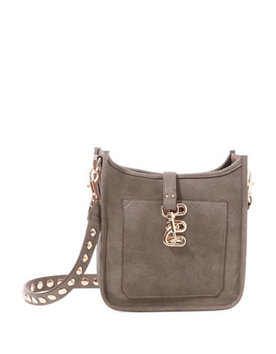 Steve Madden Bwylie Studded Strap Crossbody Bag-GREY-One Size