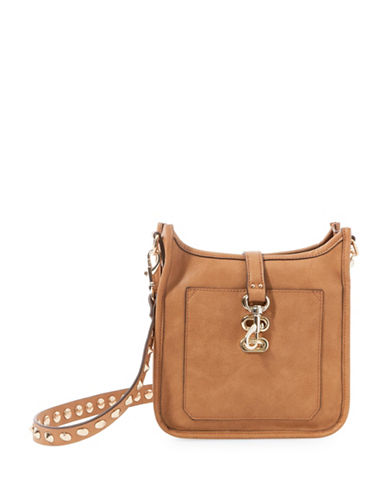 Steve Madden Bwylie Studded Strap Crossbody Bag-BROWN-One Size