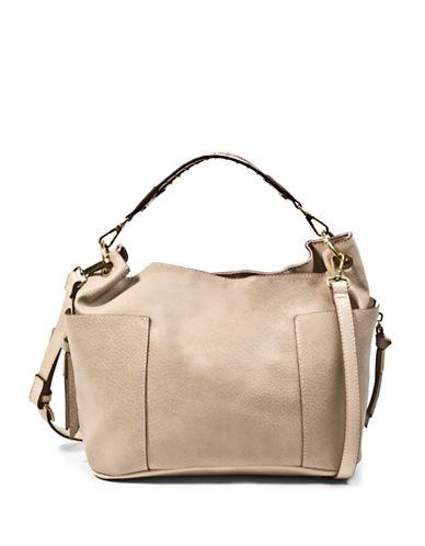 Steve Madden Bmarla Stud Two-Toned Shoulder Bag-BEIGE-One Size