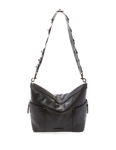 Steve Madden Bbrett Floral Studded Shoulder Bag-BLACK-One Size