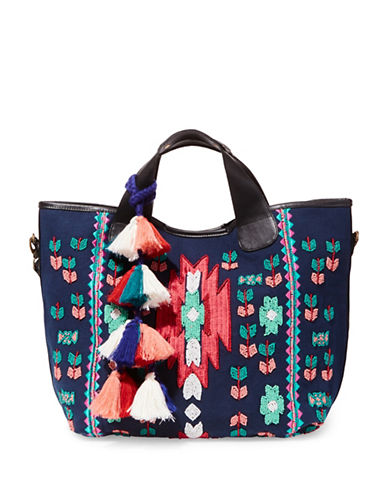 Steve Madden Jariele Fabric Tote-BLUE-One Size