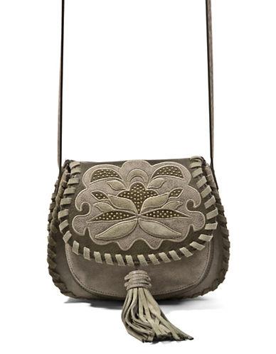 Steve Madden Jkalli Whipstitch Saddle Bag-GREEN-One Size