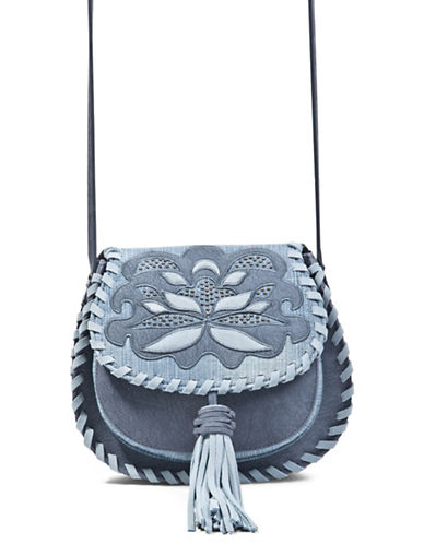 Steve Madden Jkalli Whipstitch Saddle Bag-BLUE-One Size
