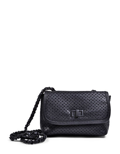 Steve Madden Perforated Crossbody Bag-BLACK-One Size