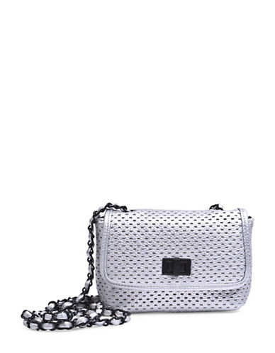 Steve Madden Perforated Crossbody Bag-SILVER-One Size