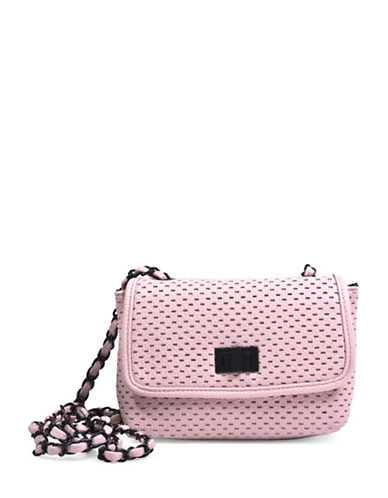 Steve Madden Perforated Crossbody Bag-PINK-One Size