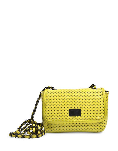 Steve Madden Perforated Crossbody Bag-YELLOW-One Size
