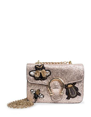 Steve Madden Syra Embellished Crossbody Bag-GOLD-One Size