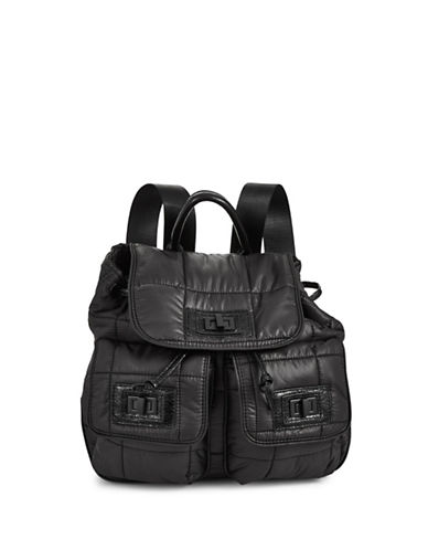 Steve Madden Roe Puffer Backpack-BLACK-One Size