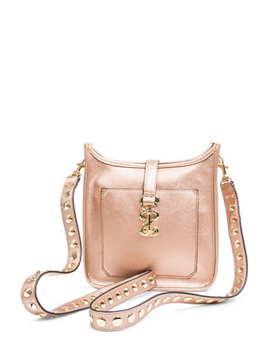 Steve Madden Wylie Studded Crossbody Bag-ROSE GOLD-One Size