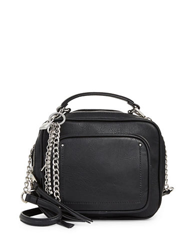 Steve Madden Pebbled Crossbody Bag-BLACK-One Size