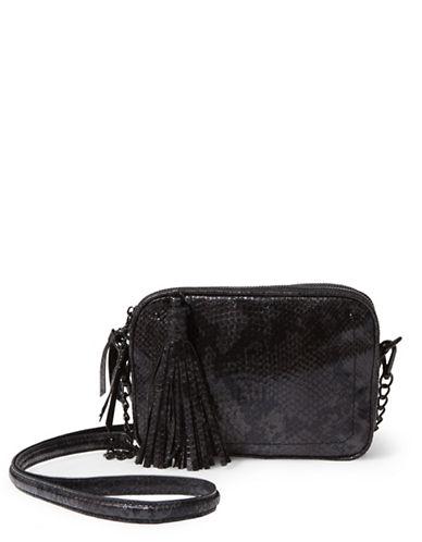 Steve Madden Kaylee Tasseled Crossbody Bag-BLACK-One Size