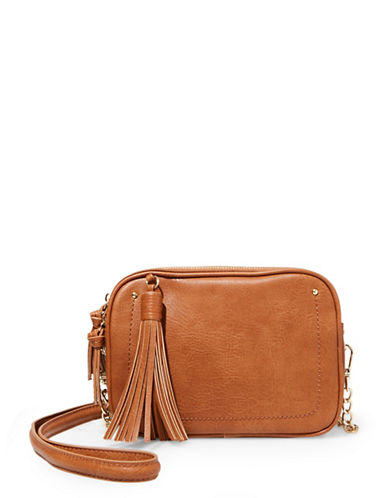 Steve Madden Kaylee Tasseled Crossbody Bag-BROWN-One Size