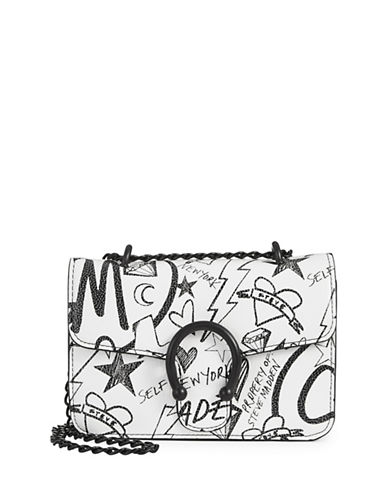 Steve Madden Peggy Doodle Mini Chain Crossbody Bag-BLACK-One Size