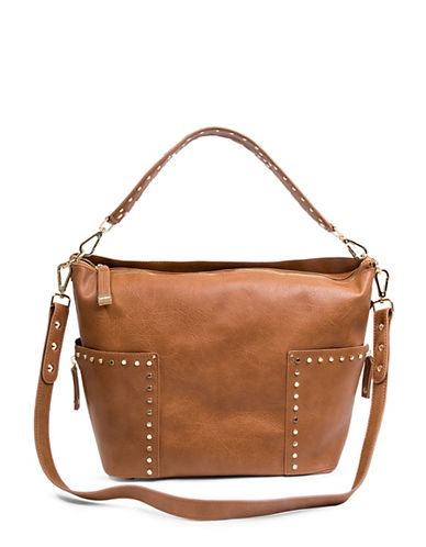 Steve Madden Monica Shoulder Bag-BROWN-One Size