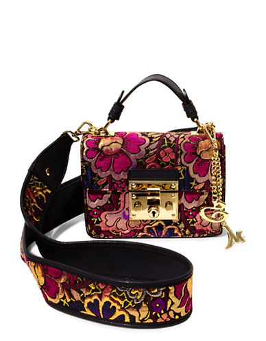 Steve Madden Lara Floral Mini Top Handle Bag-RED-One Size