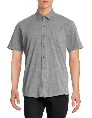 Wrk Metropolitan Short Sleeve Shirt-TEXTURED CHARCOAL-X-Large