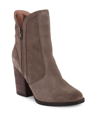 Seychelles Lori Penny Leather Booties-TAUPE-7.5