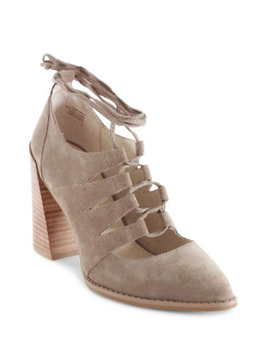 Seychelles Condition Leather Ghillie Dress Pumps-BEIGE-6
