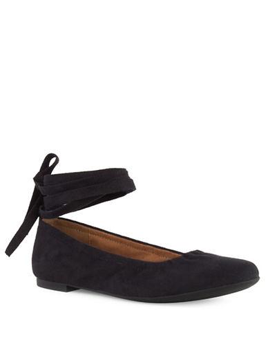 Seychelles Have A Heart Ankle Wrap Ballet Flats-BLACK-7.5